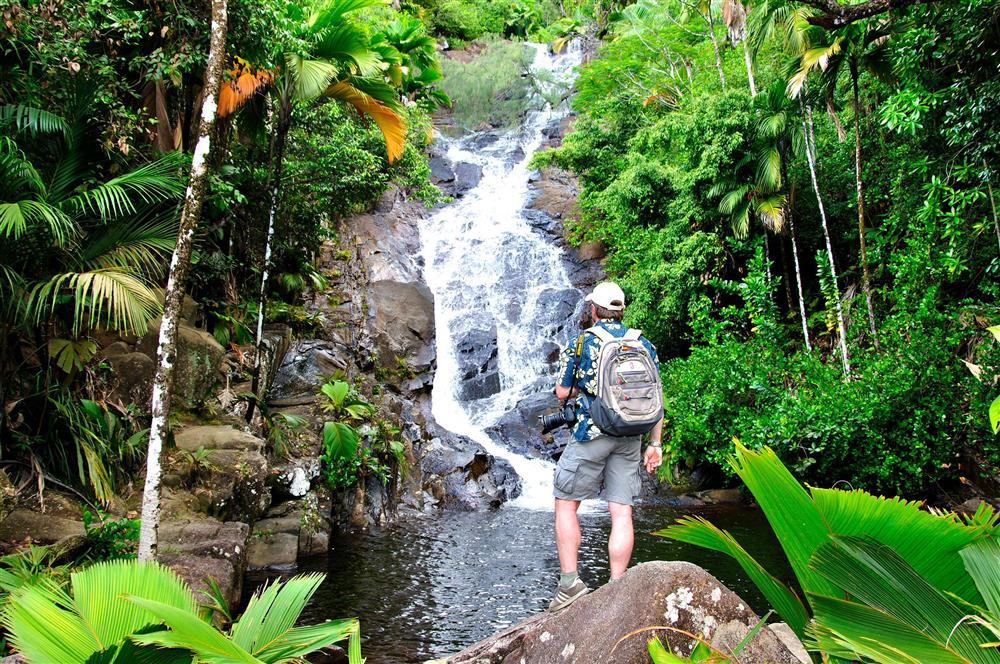 Port Glaud waterval, Mahé